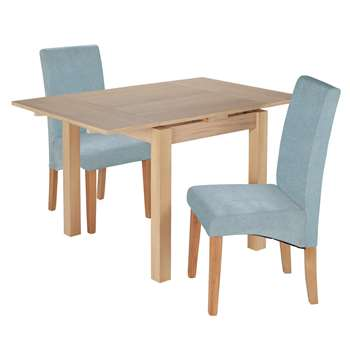 Argos Home Clifton Extendable Table 2 Chairs - Duck Egg