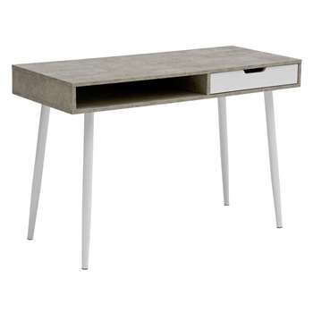 Argos Home Concrete Style Office Desk - Grey (H75 x W115 x D48cm)