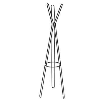 Argos Home Contemporary Metal Coat Stand - Black (H179 x W53 x D53cm)