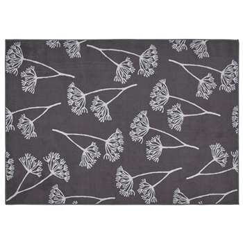 Argos Home Cow Parsely Rug - Charcoal (H120 x W170cm)