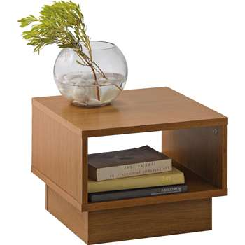 Argos Home - Cubes 1 Shelf End Table - Oak Effect (H30 x W40 x D40cm)