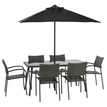 Argos Home Cusco Rattan 6 Seater Dining Set