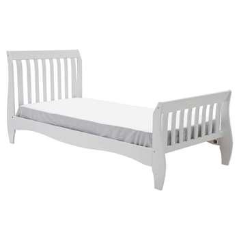 Argos Home Daisy White Single Sleigh Bed & Kids Mattress (H102 x W96 x D216cm)