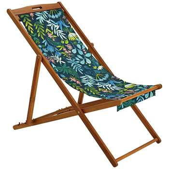 Argos Home Deck Chair - Rainforest (H92 x W59 x D110cm)