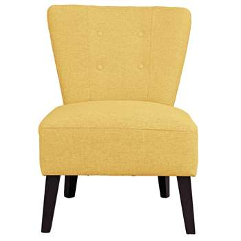Argos Home Delilah Fabric Cocktail Chair - Yellow (H84 x W64 x D64cm)