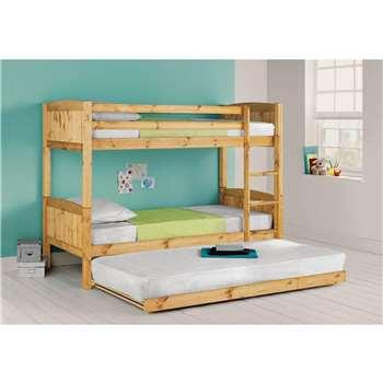 Argos Home Detachable Pine Bunk Bed with Trundle (H145 x W102 x D196cm)
