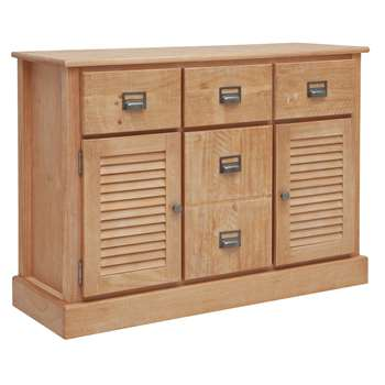 Argos Home Drury Lane Large Sideboard - Light Wood (H80 x W115 x D40cm)