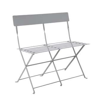Argos Home Eve Metal 2 Seater Garden Bench - Grey (H80 x W82 x D46cm)
