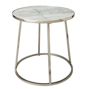 Argos Home Everyday Luxe Marble Top Table (H40.5 x W40.5 x D40.5cm)
