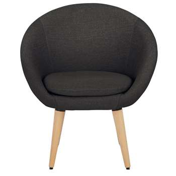 Habitat Fabric Pod Chair - Charcoal (H76 x W66 x D60cm)