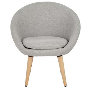 Habitat Fabric Pod Chair - Light Grey (H76 x W66 x D60cm)
