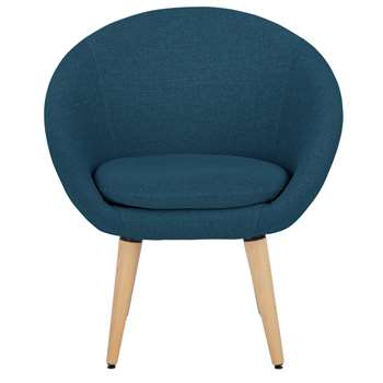 Habitat Fabric Pod Chair - Navy (H76 x W66 x D60cm)