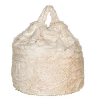 Argos Home Faux Fur Beanbag - Cream (H80 x W60 x D60cm)