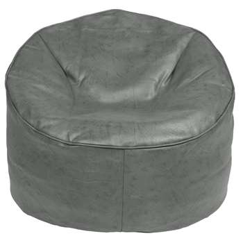 Argos Home Faux Leather Bean Bag Chair - Grey (H60 x W73 x D73cm)