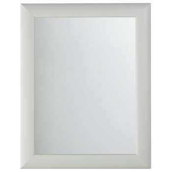 Argos Home Framed Mirror - White (H47.2 x W37.2 x D1.3cm)