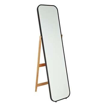 Argos Home Free Standing Cheval Mirror - Black (H141 x W40 x D51cm)