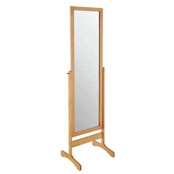 Argos Home Free Standing Cheval Mirror - Oak (H146 x W41 x D35cm)