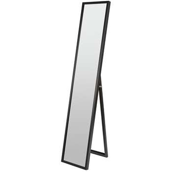 Argos Home Full Length Cheval Mirror - Black (H150 x W30 x D3.3cm)