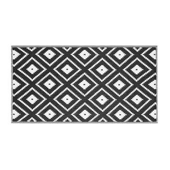Argos Home Global Monochrome Outdoor Rug (H90 x W170cm)