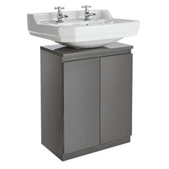 Argos Home Gloss Undersink Storage - Grey (H60 x W48 x D28cm)