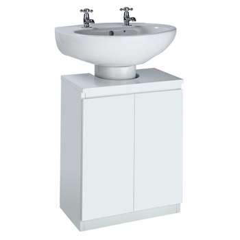 Argos Home Gloss Undersink Storage - White (H60 x W48 x D28cm)