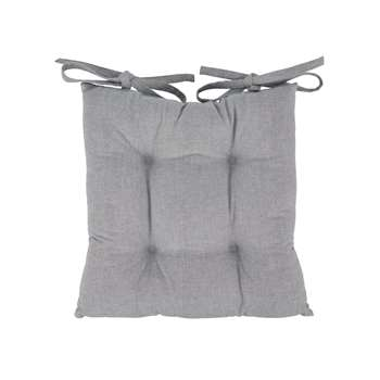 Argos Home Grey Seat Pads - 2 Pack (H40 x W40cm)