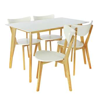 Argos Home Harlow Dining Table and 4 Chairs - White