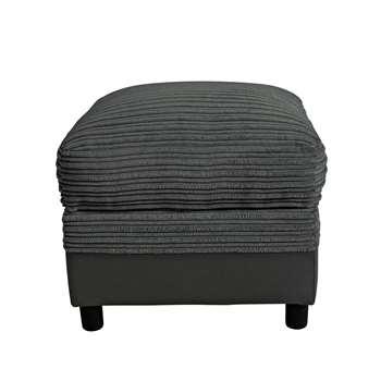 Argos Home Harry Fabric Storage Footstool - Charcoal (H47 x W52 x D52cm)