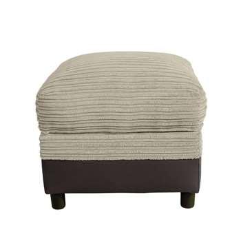 Argos Home Harry Fabric Storage Footstool - Mink (H47 x W52 x D52cm)