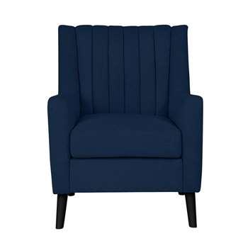 Argos Home Heidi Mid Centrury Velvet Armchair - Velvet Blue (H90 x W67 x D70cm)