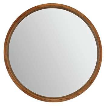 Argos Home Holt Deep Round Mirror - Oak Effect (H60 x W60 x D6cm)