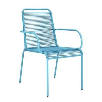 Argos Home Ipanema Garden Chair - Blue (H89 x W57 x D64cm)