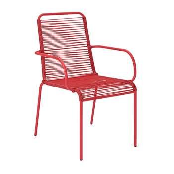 Argos Home Ipanema Garden Chair - Coral (H89 x W57 x D64cm)