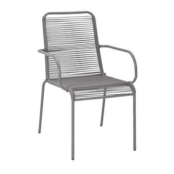 Argos Home Ipanema Garden Chair - Grey (H89 x W57 x D64cm)