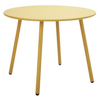 Argos Home Ipanema Round 4 Seater Garden Table - Yellow (H71 x W95 x D95cm)