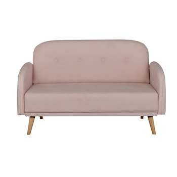 Argos Home Jemima 2 Seater Fabric Sofa in a Box - Pink (H82 x W135 x D72cm)