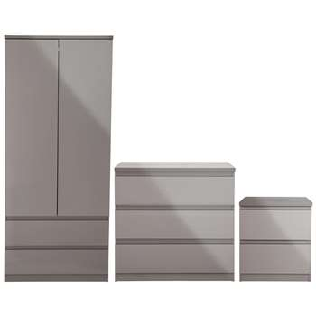 Argos Home Jenson 3 Piece Package - Grey Gloss