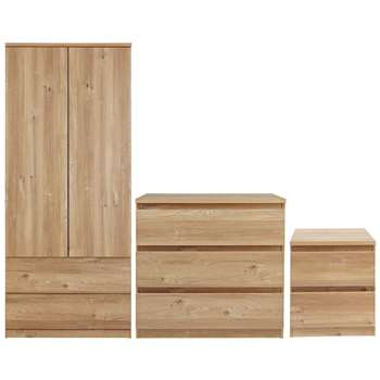 Argos Home Jenson 3 Piece Package - Oak Effect