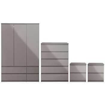 Argos Home Jenson 4 Piece Package - Grey Gloss