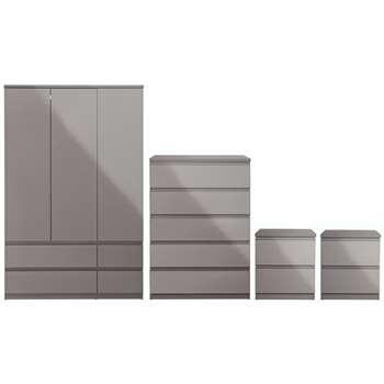 Argos Home Jenson 4 Piece Package - Grey Gloss
