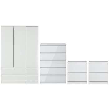 Argos Home Jenson 4 Piece Package - White Gloss