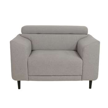 Argos Home Jonas Fabric Armchair - Light Grey (H93 x W133 x D93.5cm)