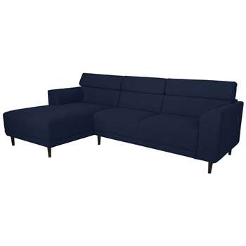 Argos Home Jonas Left Corner Fabric Sofa - Navy (H91 x W293.5 x D172cm)