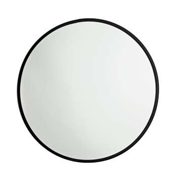 Argos Home Kanso Round Metal Framed Mirror (Diameter 50cm)