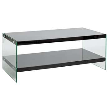 Argos Home Kaspa Coffee Table - Black Gloss & Glass (H45 x W100 x D50cm)