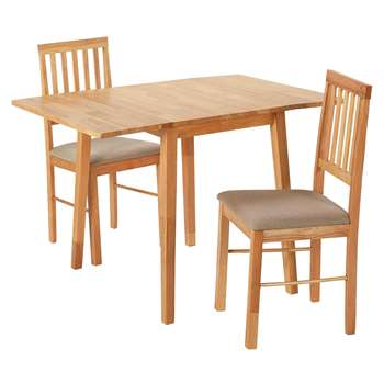 Argos Home Kendal Extendable Table & 2 Chairs - Natural