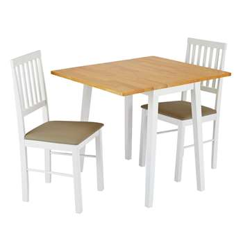 Argos Home Kendal Extendable Table & 2 Chairs - Two Tone