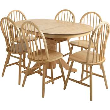 Argos Home Kentucky  Extendable Table & 6 Chairs - Natural