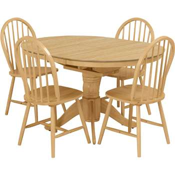 Argos Home Kentucky Extendable Wood Veneer Table 4 Chairs