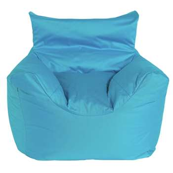 Argos Home Kids Funzee Blue Beanbag Chair (H55 x W62 x D62cm)